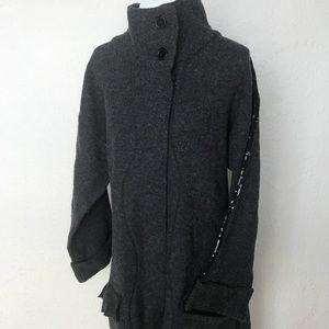 Soft Surroundings Wool Cowl Neck Glitter Cardigan